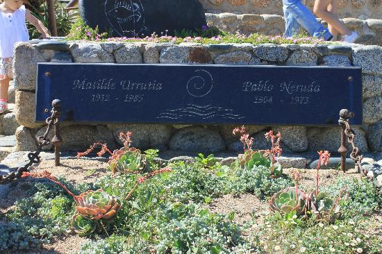 Poet Pablo Neruda was buried alongside his wife Matilde Urrutia at their coastal home in Isla Negra.