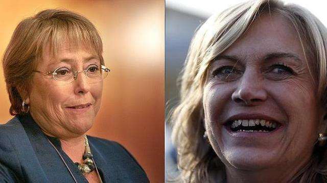 Michelle Bachelet, left and Evelyn Matthei are the candidates in this year's presidential election in Chile