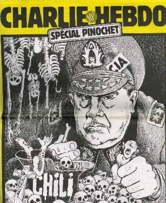 A special edition of Charlie Hebdo devoted to Pinochet